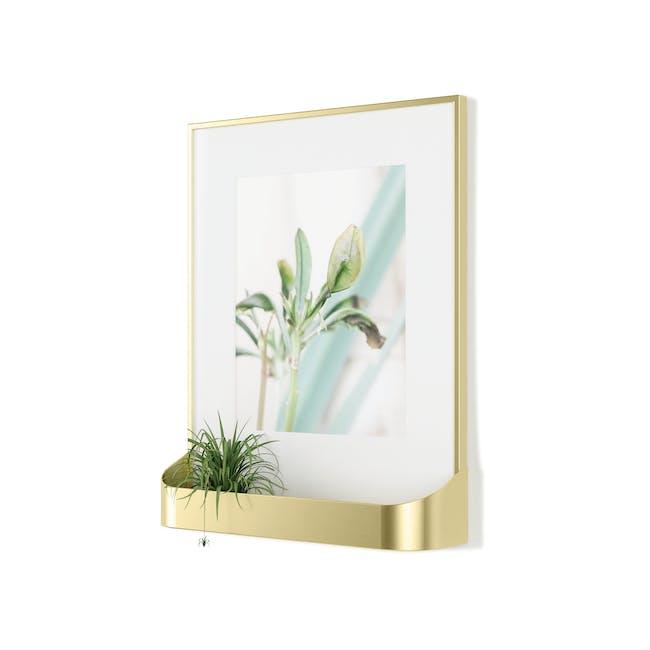 Matinee Photo Display with Shelf - Brass - 1
