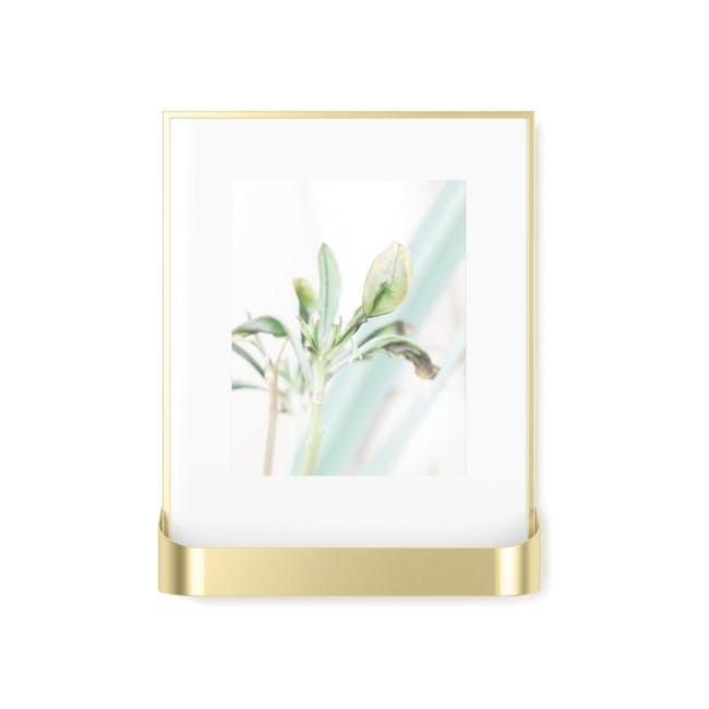 Matinee Photo Display with Shelf - Brass - 2