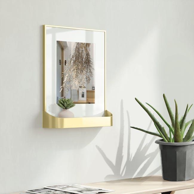 Matinee Photo Display with Shelf - Brass - 3