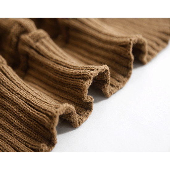 1688 - Camille Knitted Throw Blanket 110 x 175 cm - Coffee