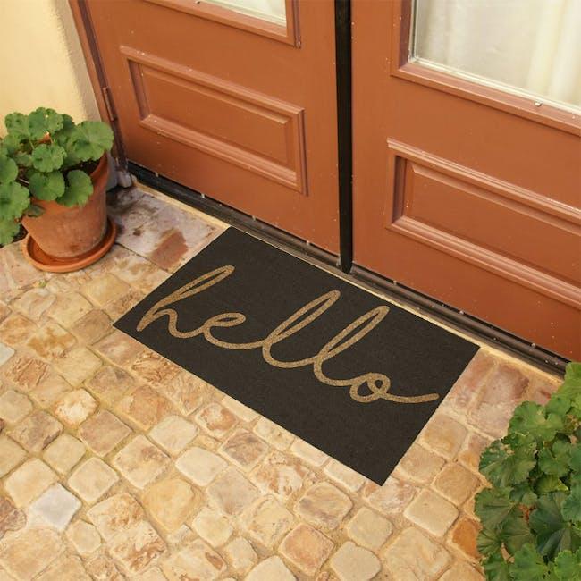 Hello Coir Door Mat - 1