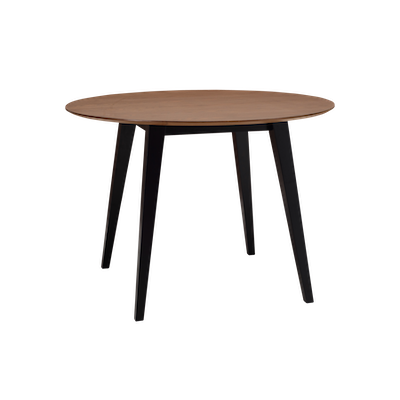 Ralph Round Dining Table with 4 Henry Dining Chairs - Cocoa - Image 2