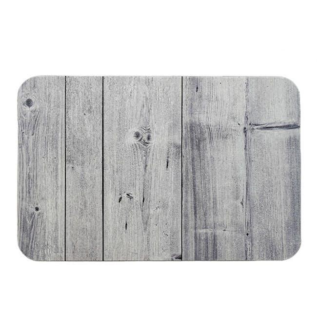 Slatted Wood Diatomite Mat  - Agate Grey - 0