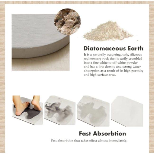 Slatted Wood Diatomite Mat  - Agate Grey - 4