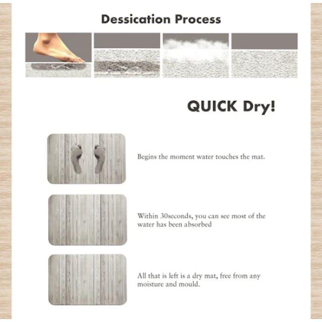 Slatted Wood Diatomite Mat  - Agate Grey - 2