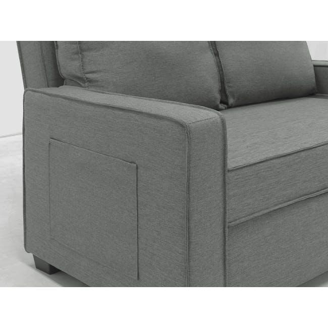 Arturo 2 Seater Sofa Bed - Pigeon Grey - 15