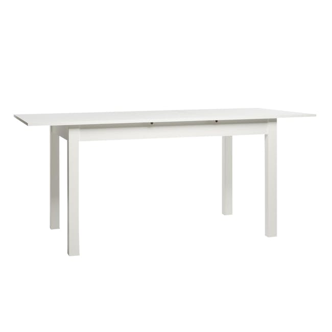 Jonah Extendable Table 1.4m in White with 4 Linnett Chair in Natural, White - 2