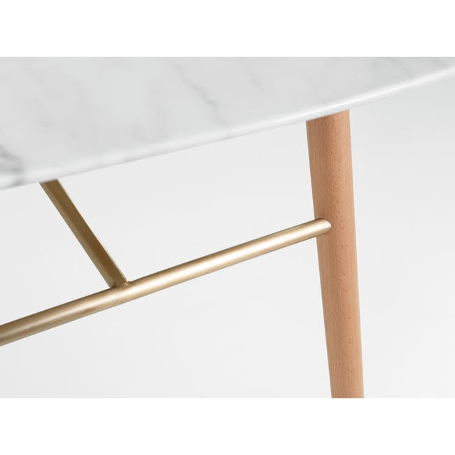 (As-is) Hagen Marble Dining Table 1.8m - 4 - 21