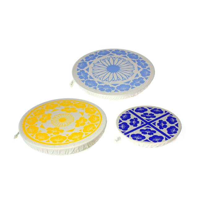 Halo Large Dish Cover Set of 3 - JL Edible Flowers - 0