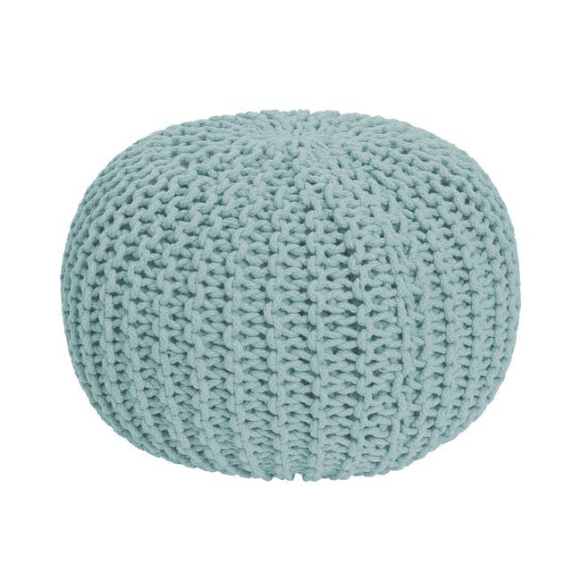 Moana Knitted Pouf - Light Blue - 0