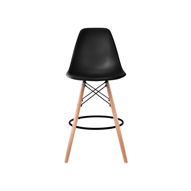 DSW Low Bar Chair Replica - Black - 2