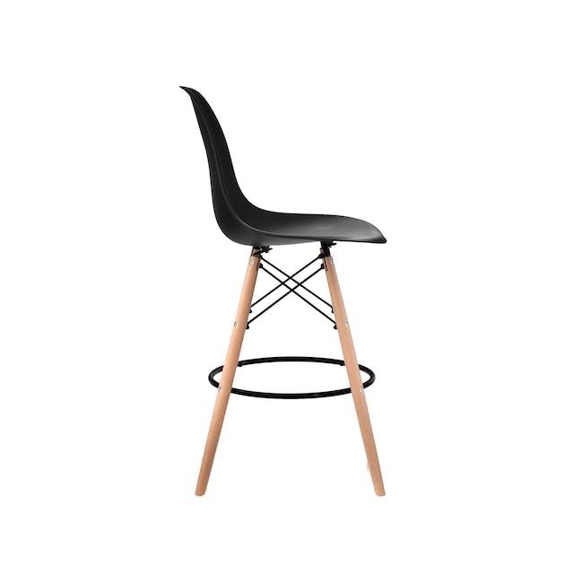 DSW Low Bar Chair Replica - Black - 1