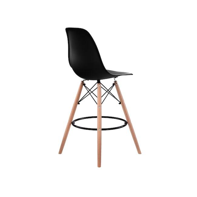 DSW Low Bar Chair Replica - Black - 3