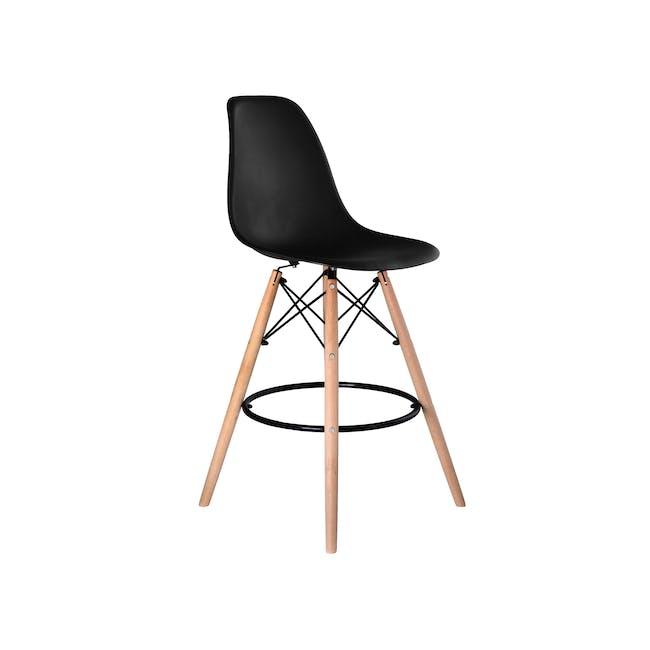 DSW Low Bar Chair Replica - Black - 0