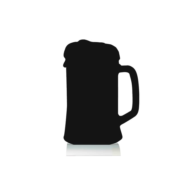 Securit Beer Mug-Shaped Table Chalkboard - 0