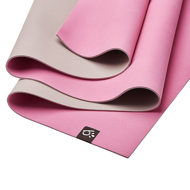 Beinks b'EARTH Natural Rubber Yoga Mat - Heather Pink - 1