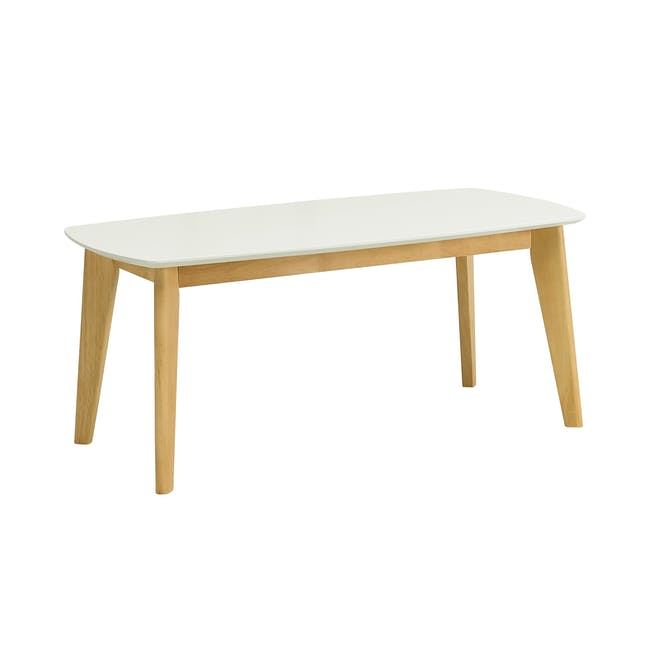 Aalto TV Cabinet 1.6m with Kyra High Coffee Table - White - 4