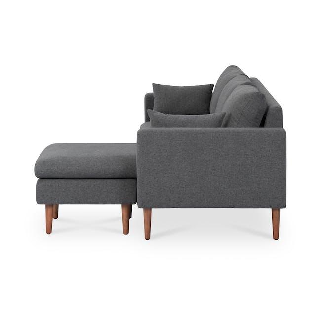 Alicia L-Shaped Sofa - Charcoal Grey - 3