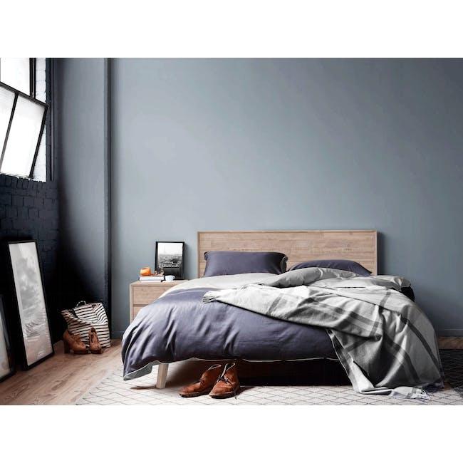 Leland Twin Drawer Bedside Table - 2