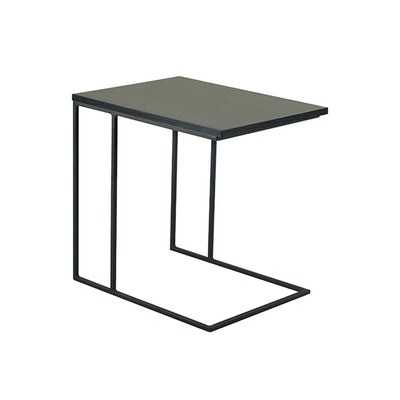 Myron Side Table - Black Ash, Matt Black