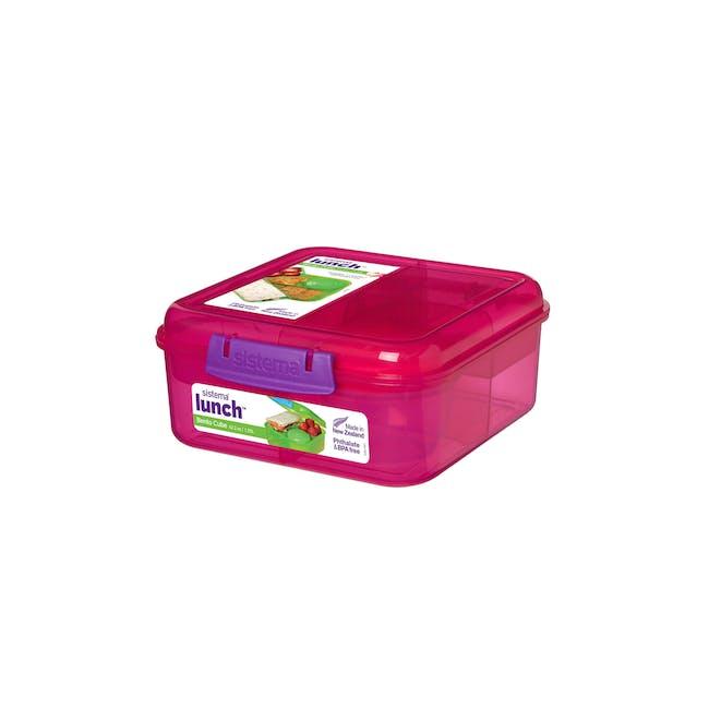 Sistema Bento Cube 1.25L - Pink - 0