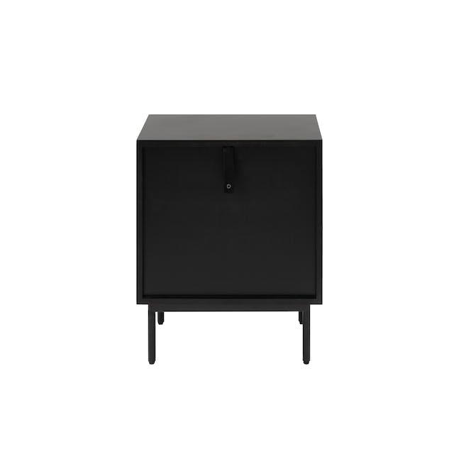 Lewis Bedside Table - Black, Oak - 4