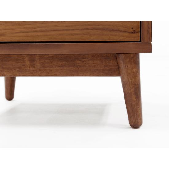 XSX - Kyoto Twin Drawer Bedside Table - Walnut