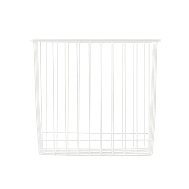 Stak Wire Basket - White - Rectangle - 0