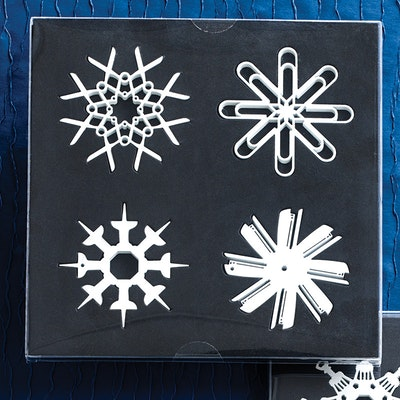 4 pc Tool Flakes Ornaments - Image 1