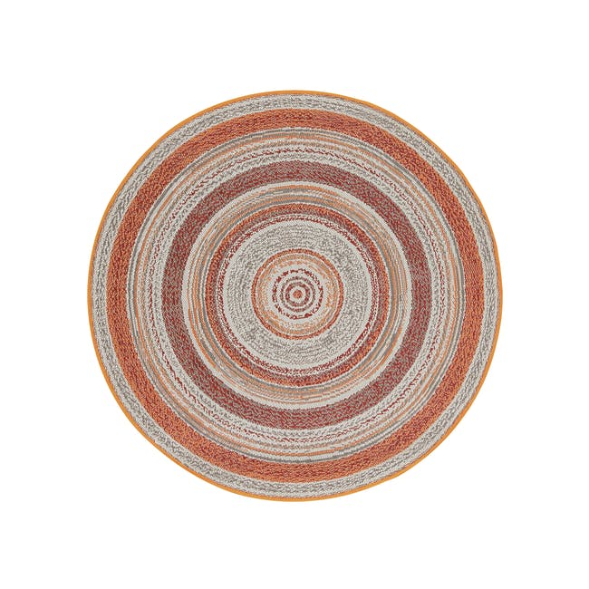 Star Round Flatwoven Rug 1.2m - Red - 0