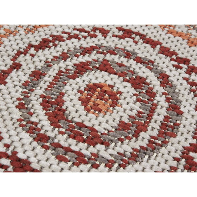 Star Round Flatwoven Rug 1.2m - Red - 1