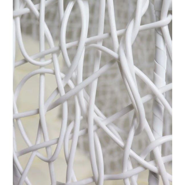 White Cocoon Swing Chair - Creamy White Cushion - 2