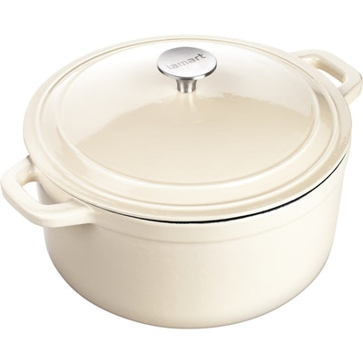 Lamart Round Pot With Lid 26 cm - Cream - Image 1
