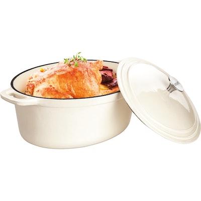Lamart Round Pot With Lid 26 cm - Cream - Image 2