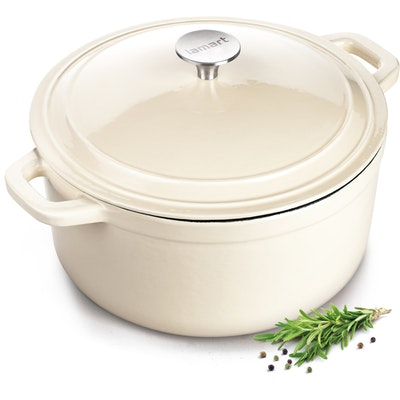 Lamart Round Pot With Lid 26 cm - Cream - Image 2