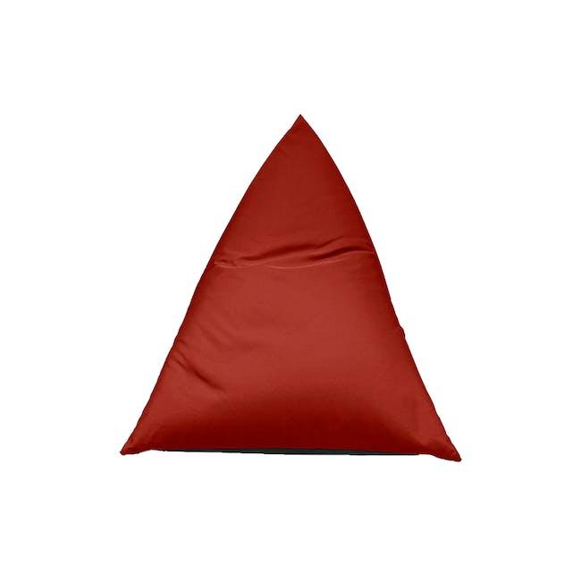 Splash Waterproof Outdoor Triangle Bean Bag - Red - 7