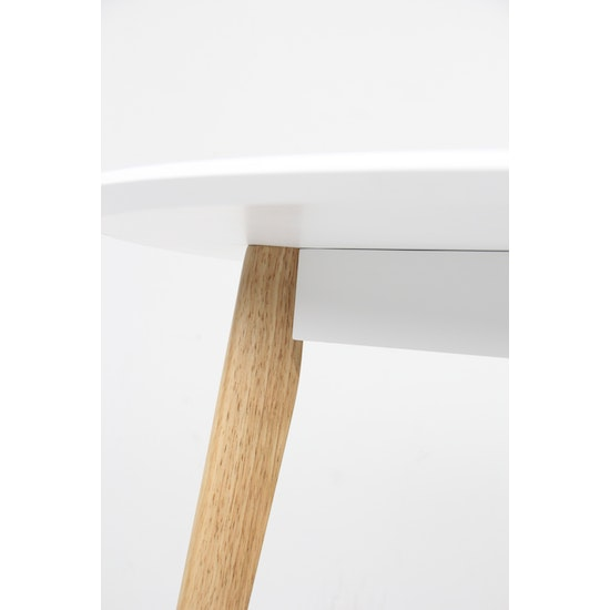 Shape - Harold Round Dining Table 1m - Natural, White