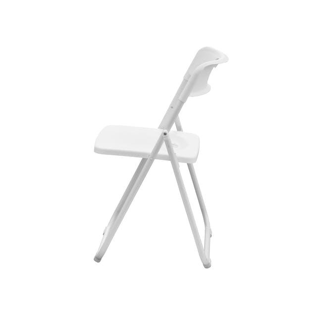 Nixon Folding Chair - White - 2