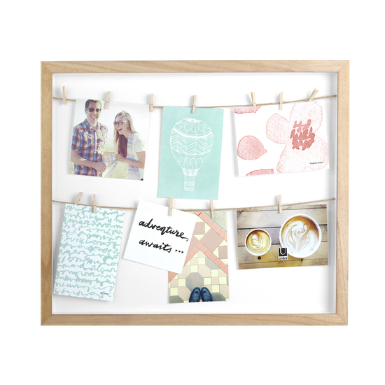 Clothesline Photo Display - Natural - Image 1