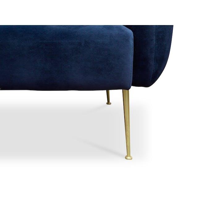 Alero 2 Seater Sofa - Midnight Blue (Velvet) - 6
