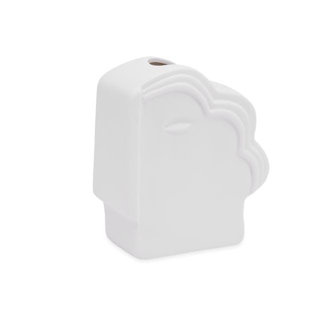 Abstract Gentlemen Head Porcelain Vase - White - 2