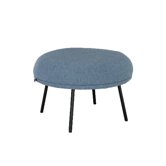 Justy Ottoman - Marble Blue - 1