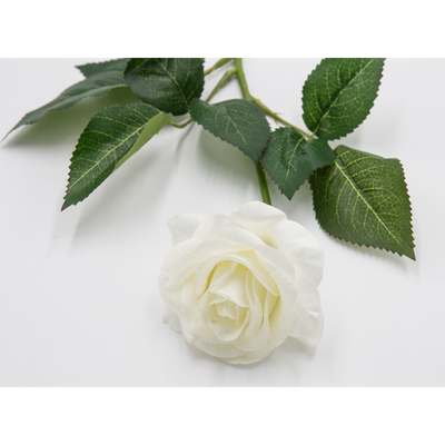 Faux Rose Stem - White - Image 2