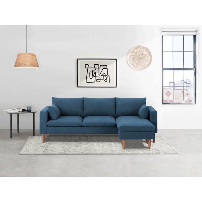 Alicia L-Shaped Sofa - Blue - 2