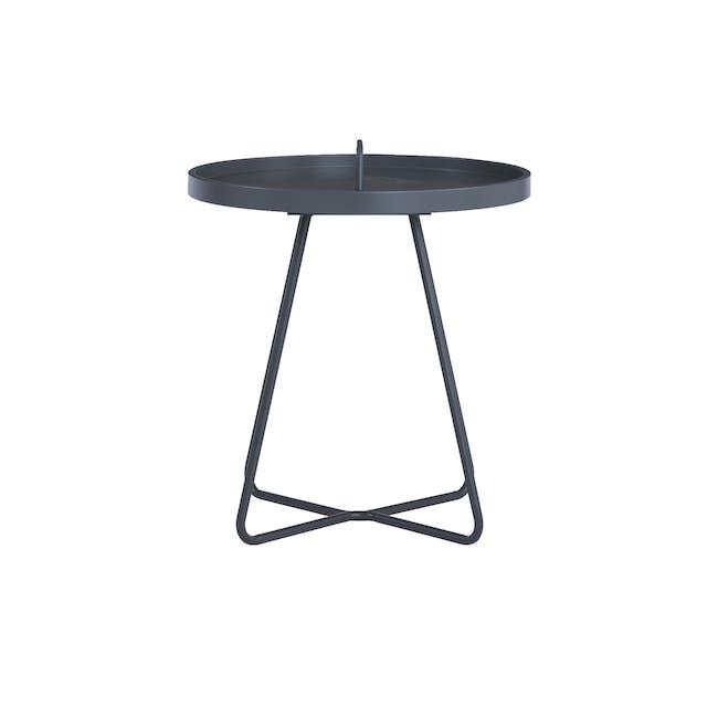 Jax Side Table - Graphite Grey - 2