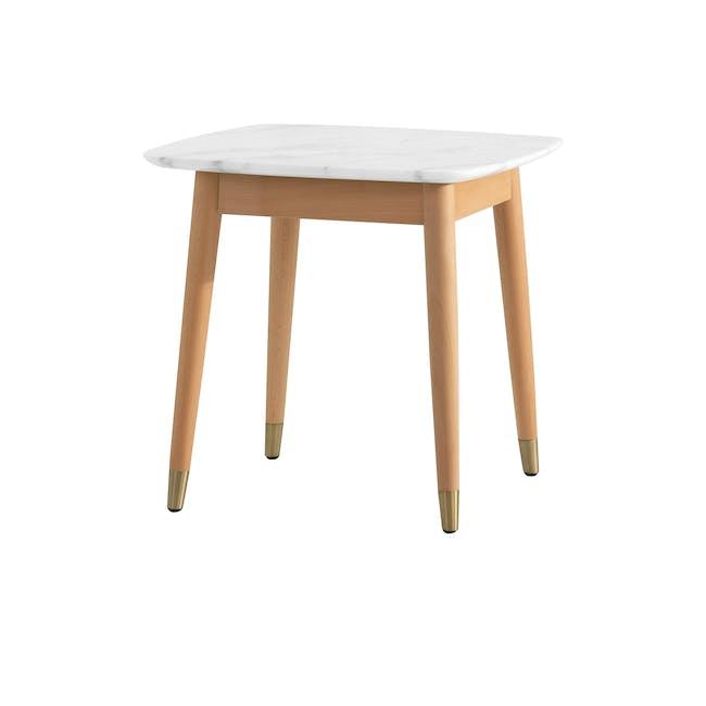 Hagen Marble Side Table - 0