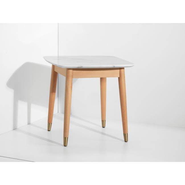 Hagen Marble Side Table - 4