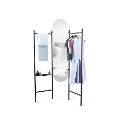 Vala Floor Mirror - Black - Image 1
