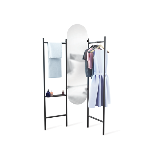 Umbra - Vala Floor Mirror - Black