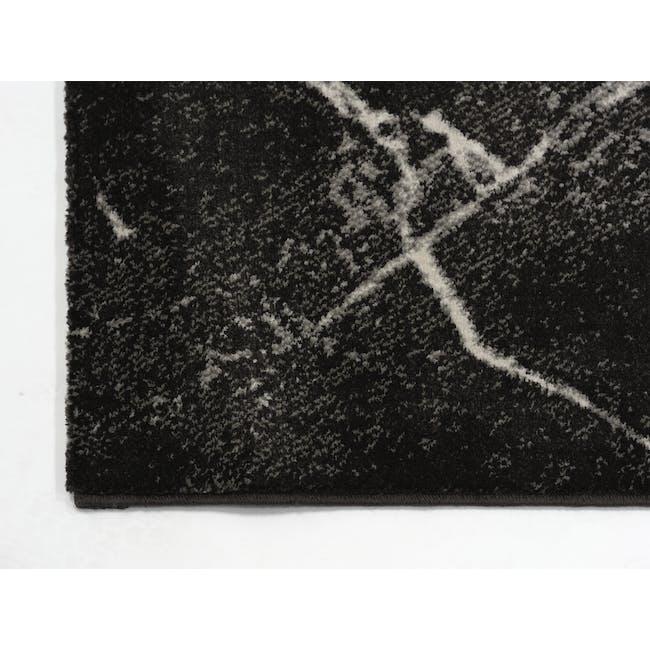 Space Low Pile Rug 2.3m x 1.6m - Black Marble - 2